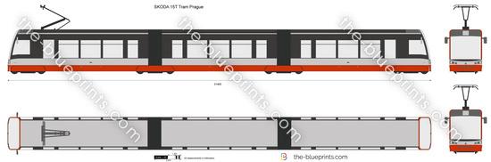 SKODA 15T Tram Prague