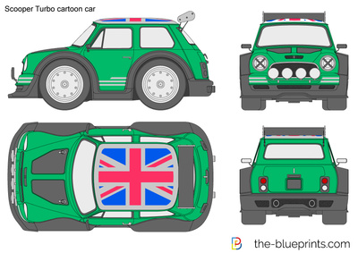 Scooper Turbo cartoon car