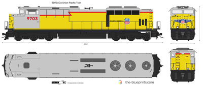 SD70ACe Union Pacific Train