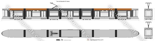 Tram de Marseille 42 metres