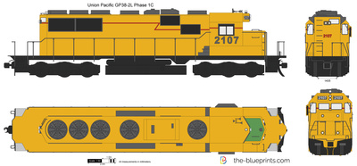 Union Pacific GP38-2L Phase 1C
