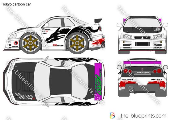Tokyo cartoon car
