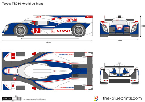 Toyota TS030 Hybrid Le Mans