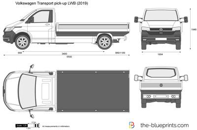 Volkswagen Transport pick-up LWB (2019)