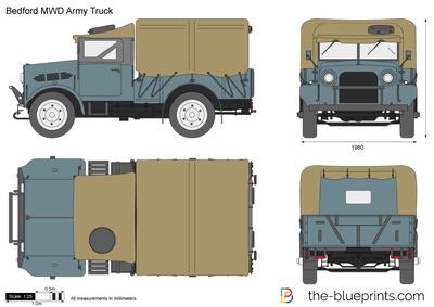 Bedford MWD Army Truck