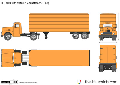 IH R190 with 1948 Fruehauf trailer
