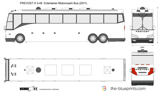 PREVOST H 3-45  Entertainer Motorcoach Bus
