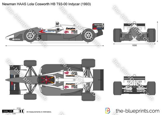 Newman HAAS Lola Cosworth HB T93-00 Indycar