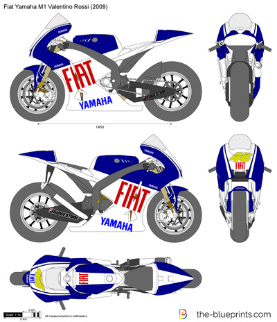Fiat Yamaha M1 Valentino Rossi