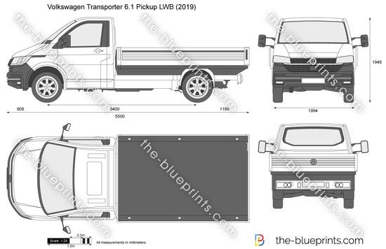 Volkswagen Transporter 6.1 Pickup LWB