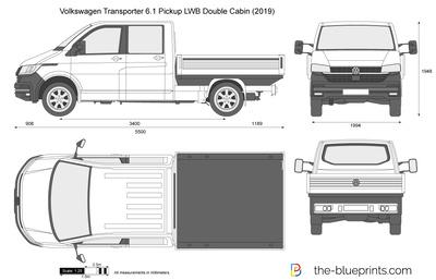 Volkswagen Transporter 6.1 Pickup LWB Double Cabin (2019)
