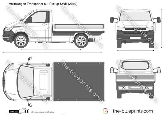 Volkswagen Transporter 6.1 Pickup SWB