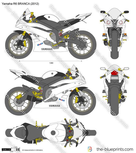 Yamaha R6 BRANCA