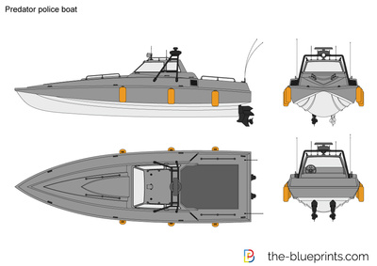 Predator police boat