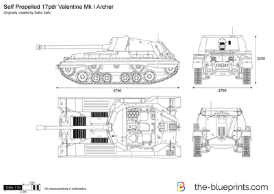 Self Propelled 17pdr Valentine Mk I Archer