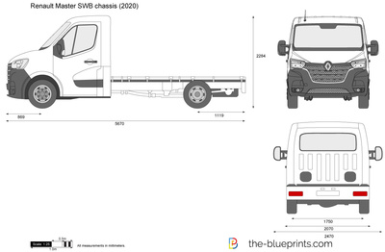 Renault Master SWB chassis