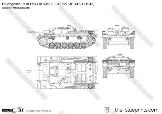 Sturmgeschutz III StuG III Ausf. F L-43 Sd.Kfz. 142-1