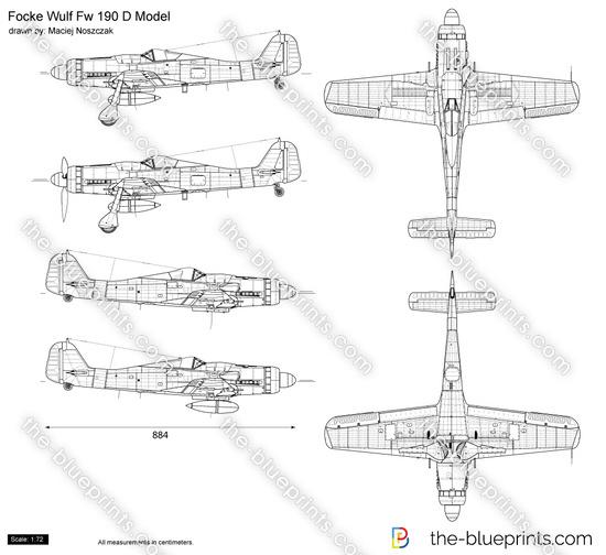 Focke Wulf Fw 190 D Model