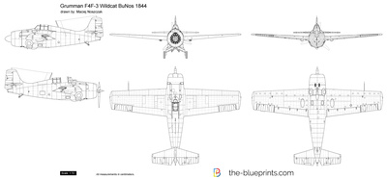 Grumman F4F-3 Wildcat BuNos 1844
