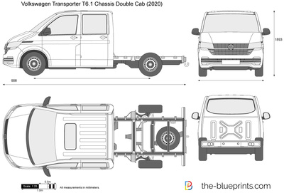 Volkswagen Transporter T6.1 Chassis Double Cab