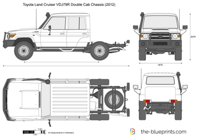 Toyota Land Cruiser VDJ79R Double Cab Chassis