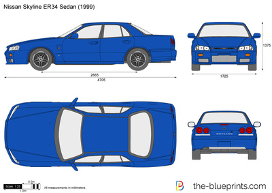 Nissan Skyline ER34 Sedan