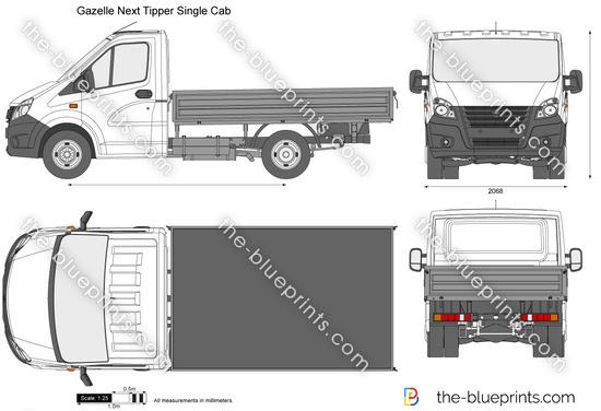 Gazelle Next Tipper Single Cab