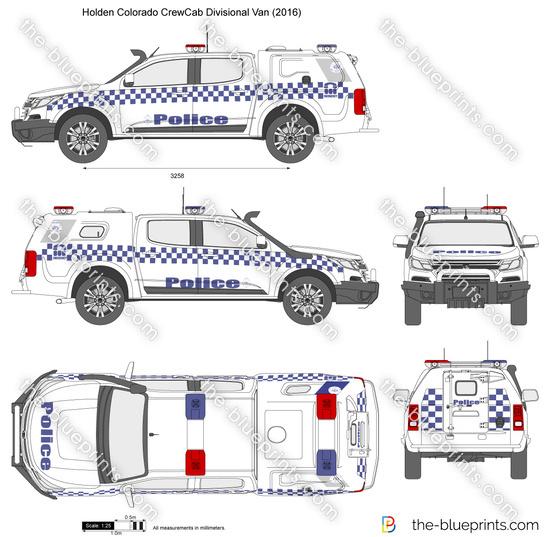 Holden Colorado CrewCab Divisional Van Police