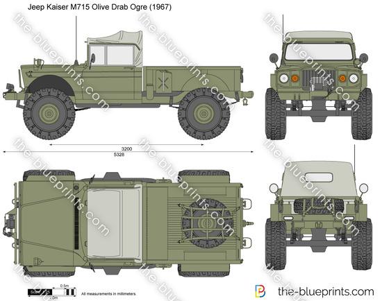 Jeep Kaiser M715 Olive Drab Ogre