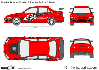 Mitsubishi Lancer Evolution IX Fast and Furious 3