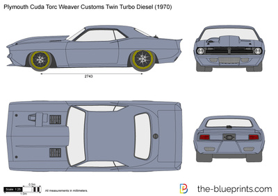 Plymouth Cuda Torc Weaver Customs Twin Turbo Diesel