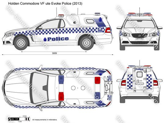 Holden Commodore VF ute Evoke Police
