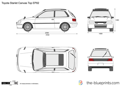 Toyota Starlet Canvas Top EP82