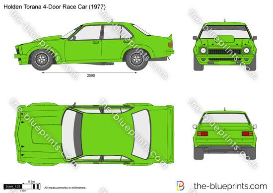 Holden Torana 4-Door Race Car