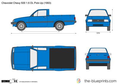 Chevrolet 500 1.6 DL Pick-Up (1993)