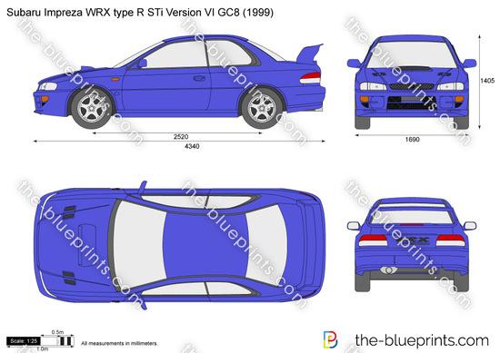 Subaru Impreza WRX type R STi Version VI GC8
