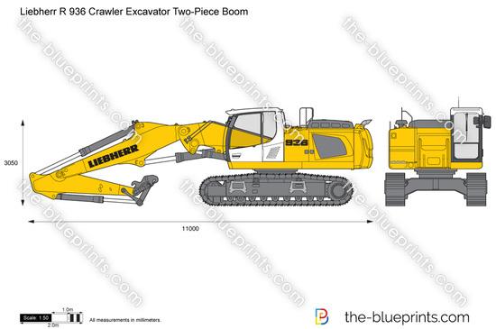 Liebherr R 936 Crawler Excavator Two-Piece Boom