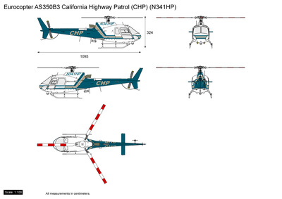 Eurocopter AS350B3 California Highway Patrol (CHP) (N341HP)