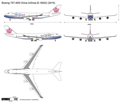 Boeing 747-409 China Airlines B-18202