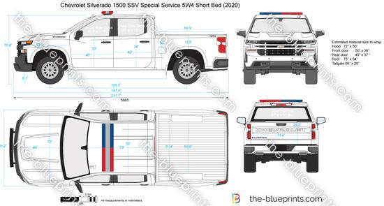 Chevrolet Silverado 1500 SSV Special Service 5W4 Short Bed