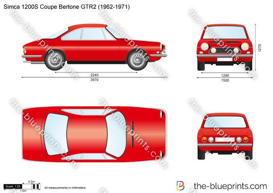 Simca 1200S Coupe Bertone GTR2