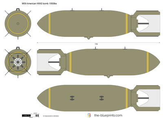 M59 American WW2 bomb 1000lbs