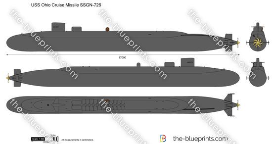 USS Ohio Cruise Missile SSGN-726