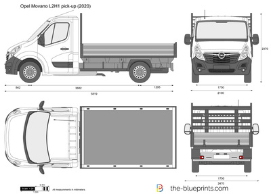 Opel Movano L2H1 pick-up