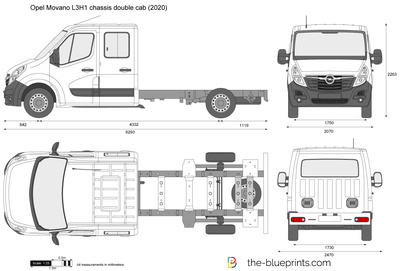 Opel Movano L3H1 chassis double cab