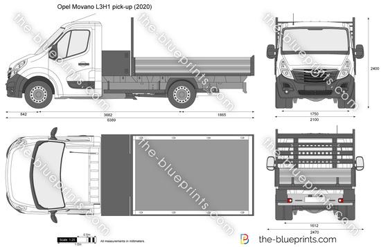 Opel Movano L3H1 pick-up