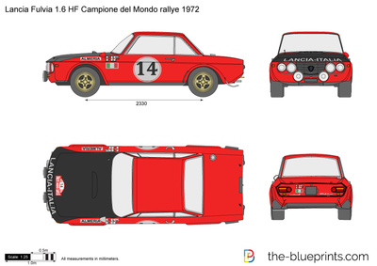 Lancia Fulvia 1.6 HF Campione del Mondo rallye