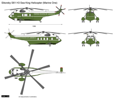 Sikorsky S61 H3 Sea King Helicopter (Marine One)
