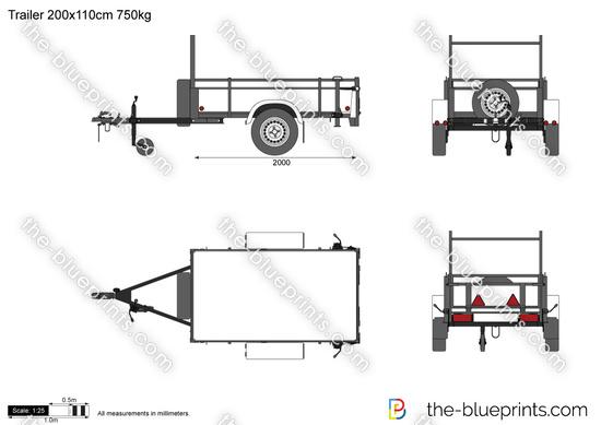 Trailer 200x110cm 750kg
