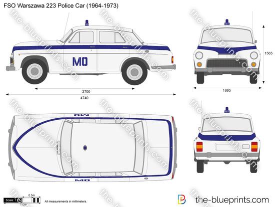 FSO Warszawa 223 Police Car